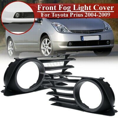 Pair Front Bumper Fog Light Lamp Cover Grill Grille For Toyota Prius 2004-2009