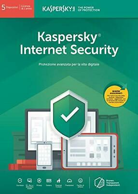 Kaspersky Internet security 2019 2020 5 PC Device 1 Anno Originale - Fatturabile
