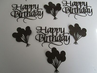 Die Cuts Happy Birthday 6  Fancy  6 Baloons Card Cardstock