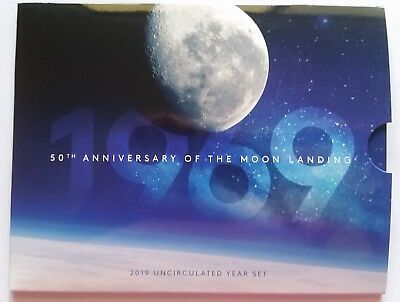 Australian 50th Anniversary of the Moon Landing 2019 Uncirculated Set x 6 coins.