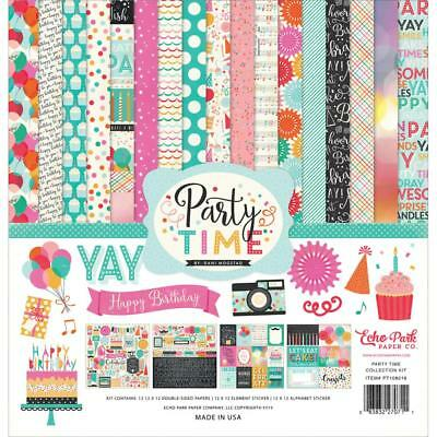 Echo Park Party Time Paper Collection Kit, Scrapbooking, Cards, Craft, Birthday