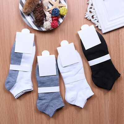 4 Pairs Mens Sport Breathable Ankle Socks Casual Low Cut Socks Soft Cotton