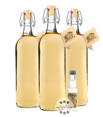 Prinz Alte Williams Christ Birne / 41 % Vol. 3 x 1,0 Liter-Flasche + 1 Mini