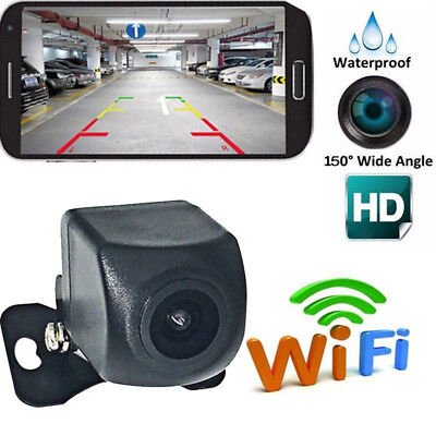 150°WiFi Wireless Car Rear View Cam Backup Reverse Camera For Android iosJO