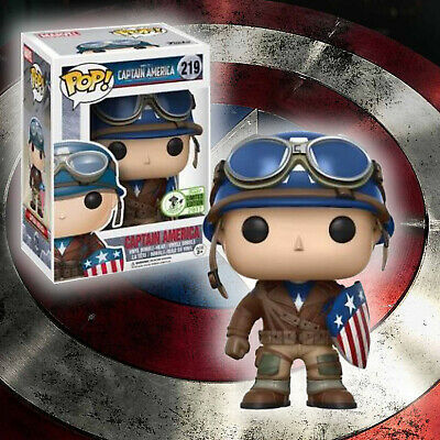 FUNKO POP! Captain America #219 (WWII) Marvel Limited Edition ECCC France
