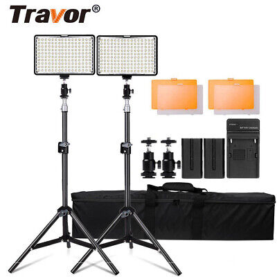 2pc/Set 160LED Video Light Lampen Studioset Videoleuchte Lichtstativ Kameralicht