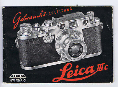 Original Vintage 1951 Leica IIIc Camera Instruction Book Operator Manual