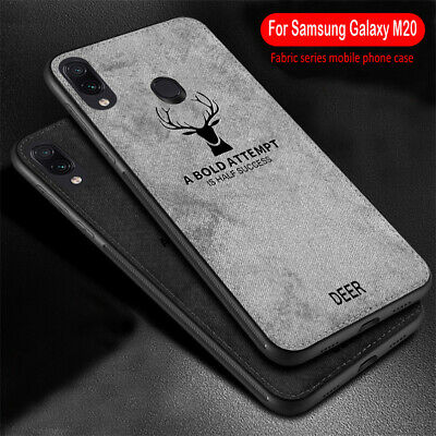 For Samsung Galaxy M20 M10 Shockproof Hybrid Soft TPU Leather Back Case Cover