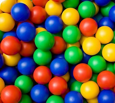 100 Childrens Plastic Play Balls - Ball Pit