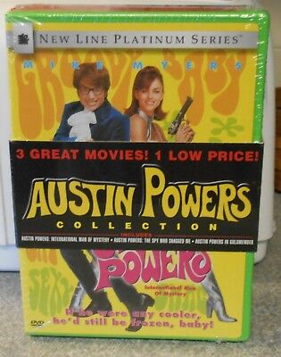 Austin Powers Collection (DVD, 2002, 3 DVD Set) VERY RARE SET BRAND NEW