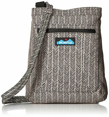 25d0a2eb955 KAVU Keepalong Semi Padded Sling Canvas Rope Crossbody Bag - Chevron Shower