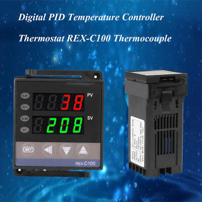 Durable Digital PID Temperature Controller Thermostat REX-C100 Thermocouple UK