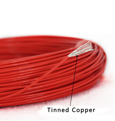 UL1332 12AWG PTFE FEP Stranded Wire Tinned Copper Cable O.D 3.0mm Red / Black