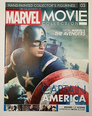 Eaglemoss Marvel Movie Collection Issue 3 Captain America MAGAZINE ONLY