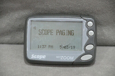 Scope Geo Zoom 84Z 4/8 Line Alphanumeric Pager Communications 454-460 MHz