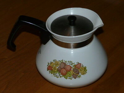 Vintage CORNING WARE P104-B Spice of Life Teapot Tea Pot - Made in Canada