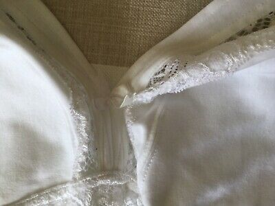533bbb8f47 John Lewis   Partners Lauren Lace Non Wired Non Padded Cotton Bra White 32G