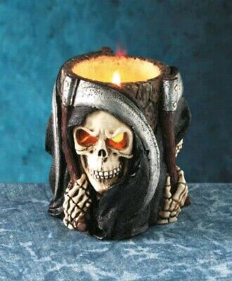 Grim Reaper Candle Holder (Halloween Death) Hard To Find