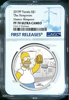 2019 The Simpsons Home Simpson Proof $1 1oz Silver COIN NGC PF 70 FR