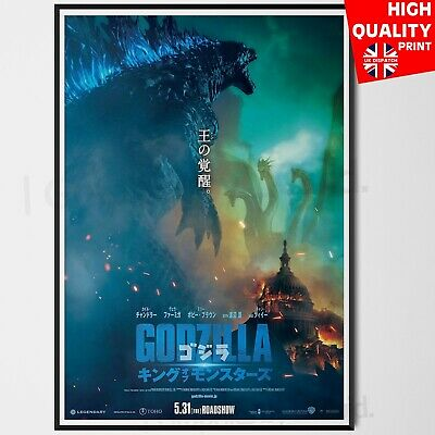 Godzilla King of the Monsters Japanese Art Film 2019 Poster Print | A4 A3 A2 A1
