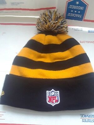 NEW ERA NFL Pittsburgh Steelers Winter Pom Knit Cap Hat brand new with tags 58c19d128f99