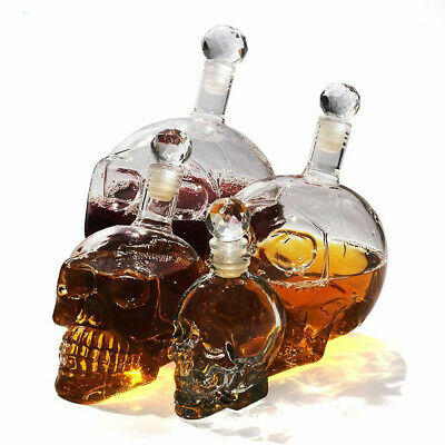 Crystal Skull Head Vodka Shot Whiskey Wine Drinking Glass Bottle Decanter Cup