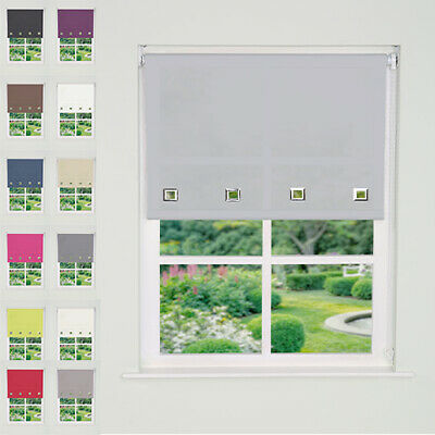 Easy Fit Square Eyelet Edge Roller Blinds Up To 240cm (165cm Drop) TRIMMABLE