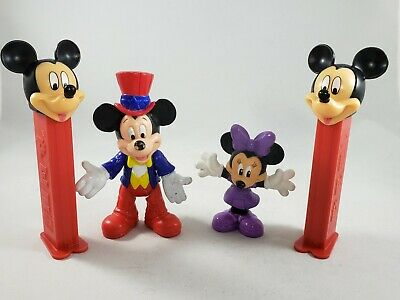 Lot 4 Disney Mickey Mouse & Minnie PVC Figures Pez Dispensers