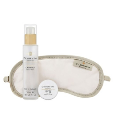 Champneys Health Spa Relaxation Gift - Pillow Mist - Eye Mask - Temple Balm