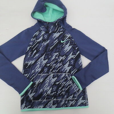 Nike Girls Therma Hoodie Sweatshirt - 903742 - Blue Purple 508 - Size S -  NWT 1c2f91be3