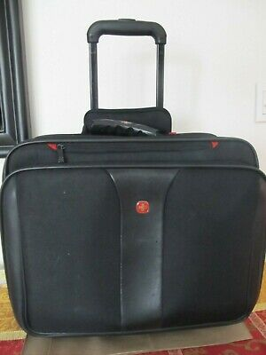 Wenger Swiss Gear Travel Carry On Laptop Bag Briefcase Rolling Luggage Wheels