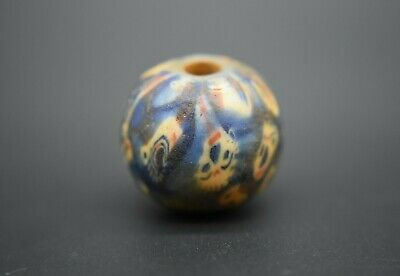 Medieval Islamic glass face bead C. 13th century AD