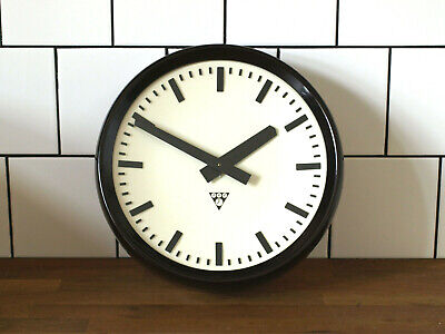 12 1/2inch running old Pragotron wall clock Factory School vintage industrial