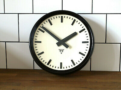 12 1/2inch running old Pragotron wall clock Factory vintage industrial design