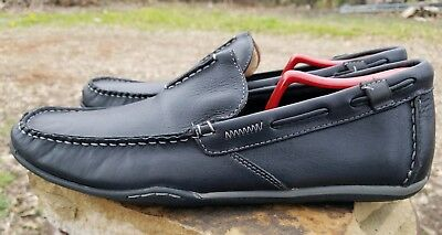 3abea65cff5 Clark s Rango Rumba 63455 Men s 10M Black Leather Slip On Driver Moc Loafers