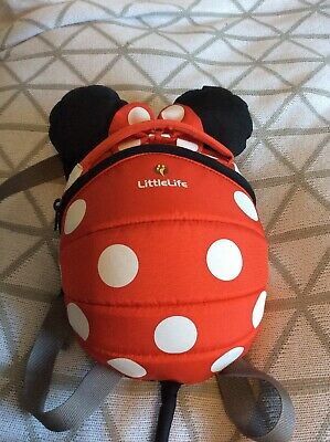 Little Life Minnie Mouse Red Backpack Rucksack Toddler Reigns Safety Lead
