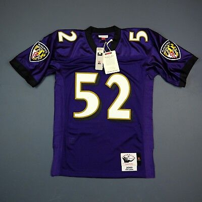 100% Authentic Ray Lewis Mitchell   Ness 2000 Ravens NFL Jersey Size Mens 52  2XL 9b0c32acb