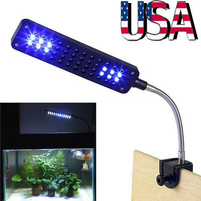Flexible Arm 48 LED Aquarium Lamp Light Clip on Plant Grow Fish Tank Lighting US