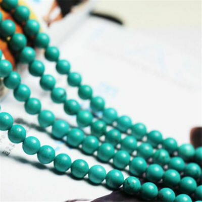 Natural Green Turquoise Round Gemstone Loose Spacer Beads Charm 4/6/8/10/12mm