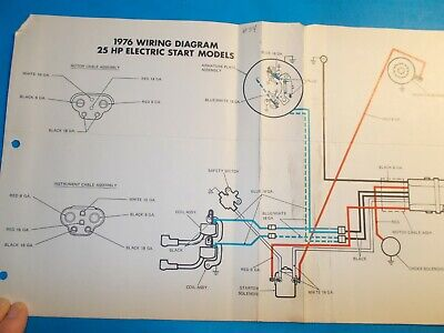 1976 johnson outboard motors 25hp electric start wiring diagram
