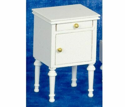 Dollhouse Miniature White Night Stand by Town Square Miniatures