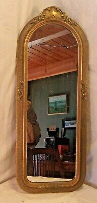 Antique 1920s oblong frame with mirror 10 3/4 x 26 1/2 mirror 8x24 molding 1 1/2