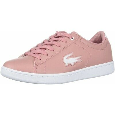 cf66fbfff5 Lacoste Carnaby Evo 418 3 Rose/Blanc Synthétique Enfant Formateurs  Chaussures