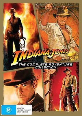 Indiana Jones: The Complete Collection (DVD, 2015, 4-Disc Set),SEALED 1 2 3 4
