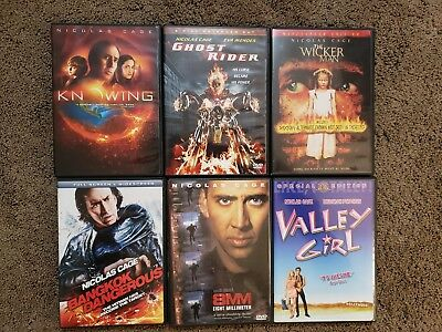 Lot of 6 DVD Set Nicolas Cage Collection 8MM Ghost Rider NO SCRATCH FREE SHIP