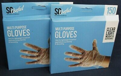 300 Multi Purpose Gloves 2 packs of 150 ideal for hairdressers or household
