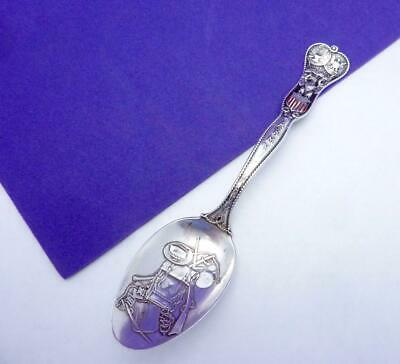 Antique Gorham Sterling Silver 1875 Army Navy Military Souvenir Spoon 24480