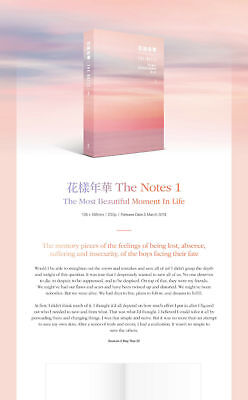 BTS - 花樣年華 THE NOTES 1 (English ver.) HYYH +Store Gift +Free Ship