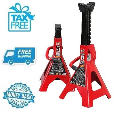 New Torin Big Red Steel Jack Stands 3 Ton Capacity Car Vehicle Automobile No Tax