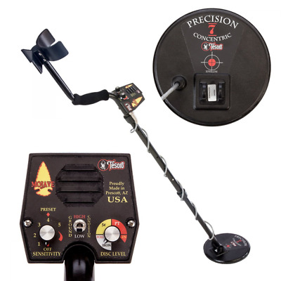 """Tesoro Mojave Metal Detector with New Precision 7"""" Concentric Search Coil"""
